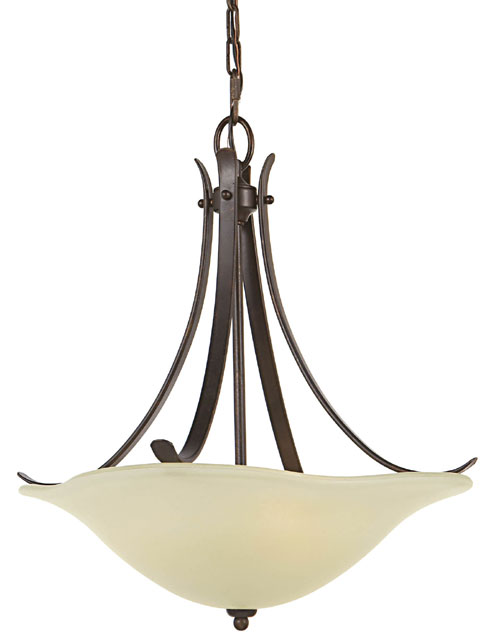 Feiss F2045/3GBZ Morningside Collection Grecian Bronze Chandelier - Up Light