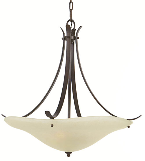 Feiss F2046/3GBZ Morningside Collection Grecian Bronze Chandelier - Up Light