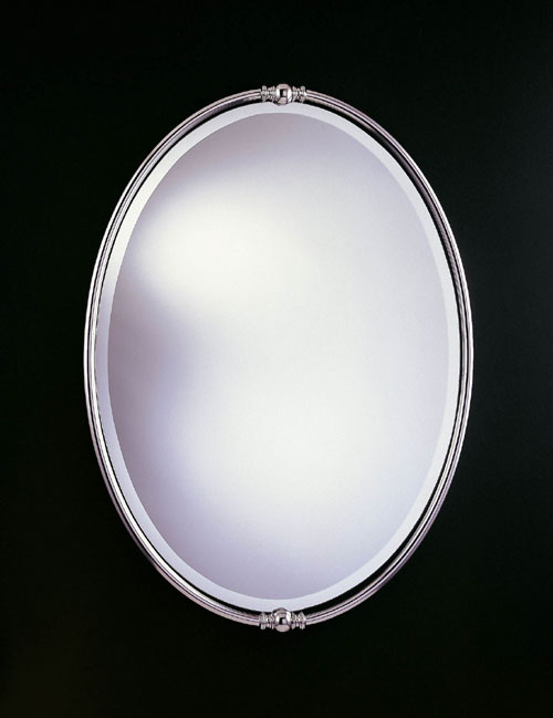 Feiss MR1044PN New London Collection Polished Nickel Mirror