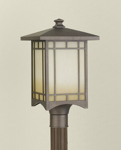 Feiss OL5307CB August Moon Collection Corinthian Bronze Outdoor Lantern - 10.5 Inch Post MUFS976