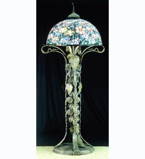 Meyda Tiffany 49874 73 Inch H Tiffany Magnolia Floor Lamp