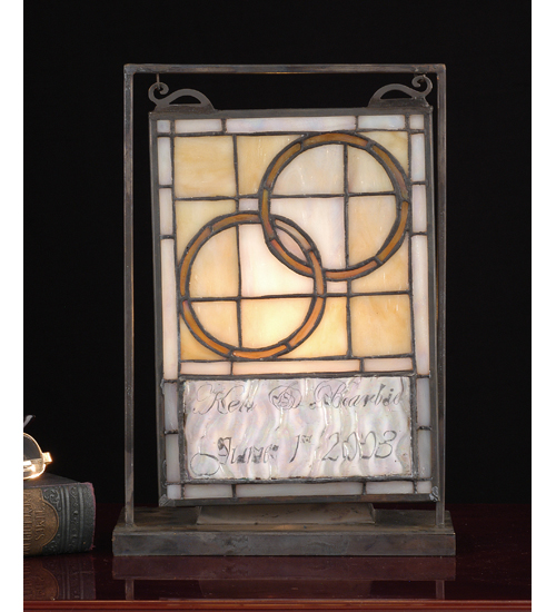 Meyda Tiffany 65510 6 Inch W 9 Inch H Wedding Mini Window & Lit Disply