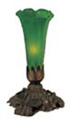 Meyda Tiffany 11252 Victorian Art Glass 4.5W x 8H Green Pond Lily Accent Lamp