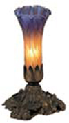 Meyda Tiffany 11295 8H 1 Light Table Lamp - Mahogany Bronze / Amber Purple Glass