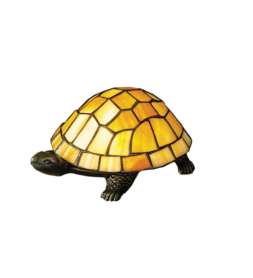 Meyda Tiffany 10271 4 Inch H X 9 Inch W X 6 Inch D Tiffany Turtle Accent Lamp