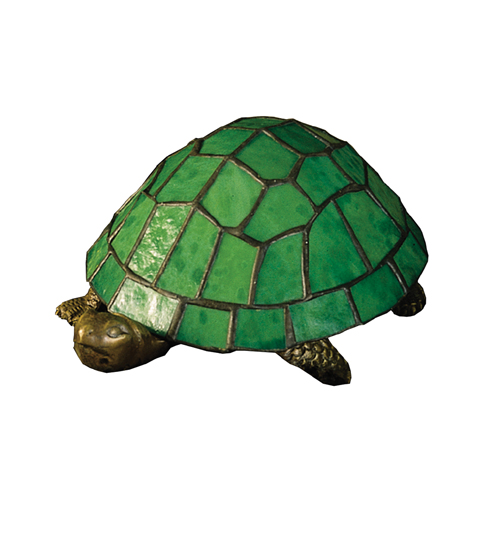 Meyda Tiffany 10750 4 Inch H X 9 Inch W X 6 Inch D Tiffany Turtle Accent Lamp