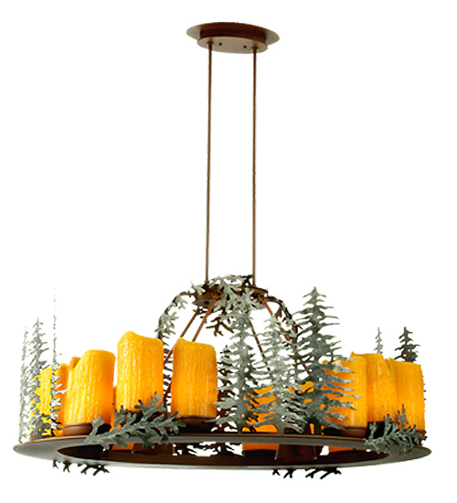 click for Full Info on this Meyda Tiffany 29523 42 Inch L X 26 Inch D Strunk Oval 12 Lt Trees Chandelier