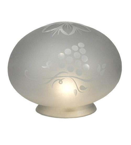 Meyda Tiffany 11194 5.5 Inch W X 4 Inch H Blue Grape Etched Globe Shade