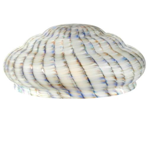 Meyda Tiffany 12232 14 Inch W X 5.5 Inch H Peacock 3 Teir Shade