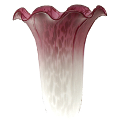 Meyda Tiffany 10187 3.5 Inch W X 5 Inch H White/Pink Lily Shade MYTF4439