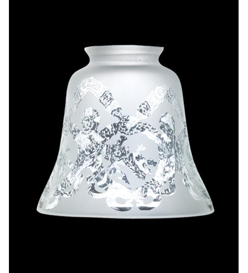 Meyda Tiffany 101467 4.75 Inch W Wreath & Garland Shade/2.25 Inch Fitter