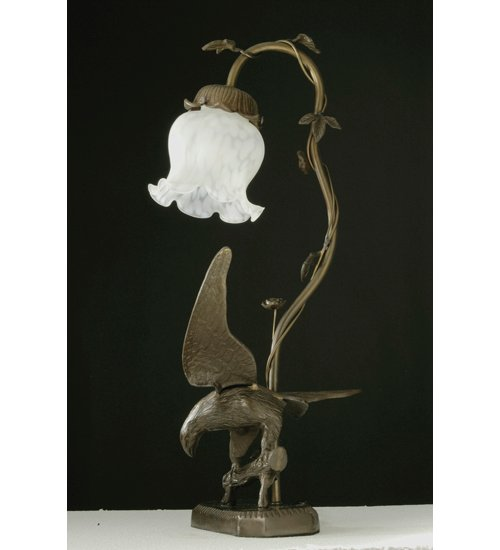 Meyda Tiffany 102412 19 Inch H Eagle On Tree Limb Table Lamp