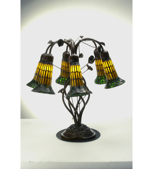 Meyda Tiffany 102415 19 Inch H 6 Light Lily Table Lamp