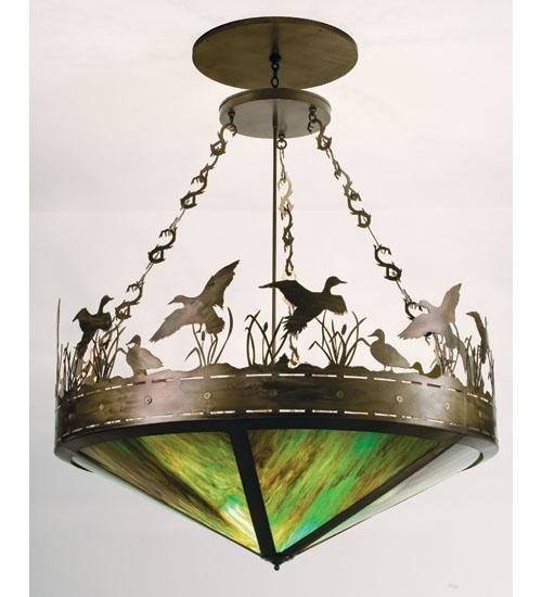 Meyda Tiffany 11907 60 Inch W Duck In Flight Inverted Pendant