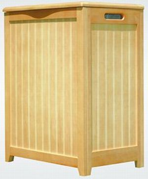 Oceanstar RHP0109N-Natural Finished Laundry Hamper with Interior Bag