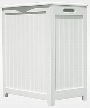 Oceanstar RHP0109W-White Finished Laundry Hamper with Interior Bag
