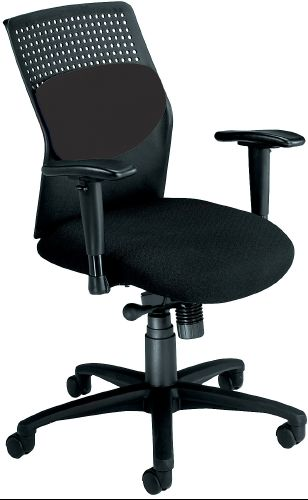 OFM 651-M11 AirFlo Series Executive Chair with Brushed Metal Accents - Black