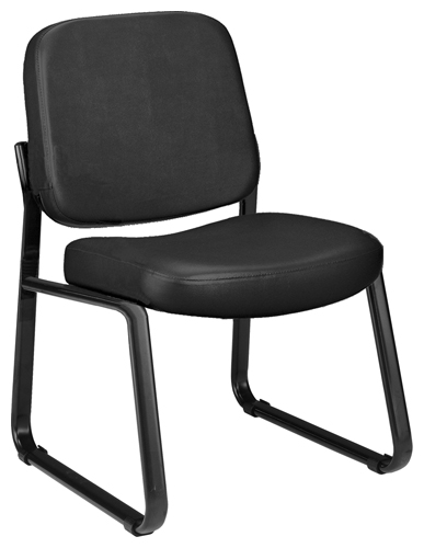 OFM 405-VAM-606 Vinyl Armless Guest-Reception Chair-Black
