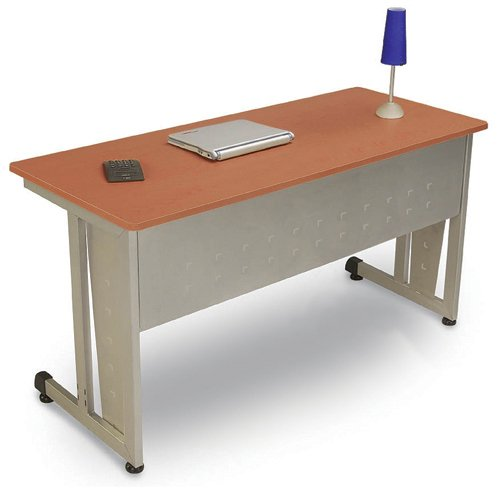 OFM 55219-CHY Modular Desk-Worktable 24 x 72 Inches -Cherry and Silver