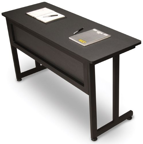 OFM 55141-GRPT Modular Training-Utility Table 55x20 Inches - Graphite and Black