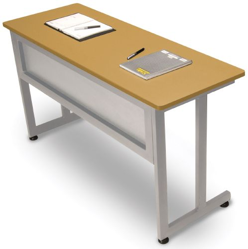 OFM 55141-MPL Modular Training-Utility Table 55x20 Inches - Maple and Silver