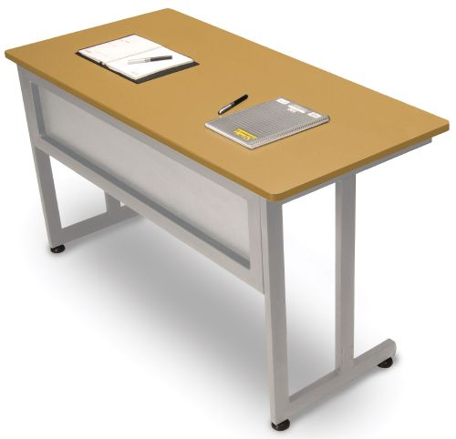 OFM 55142-MPL Modular Training-Utility Table 55x24 Inches - Maple and Silver