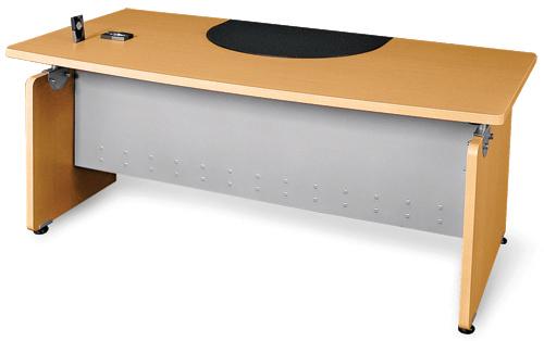 OFM 55501-MPL Venice Designer Desk 36 x 72 Inches - Maple and Silver