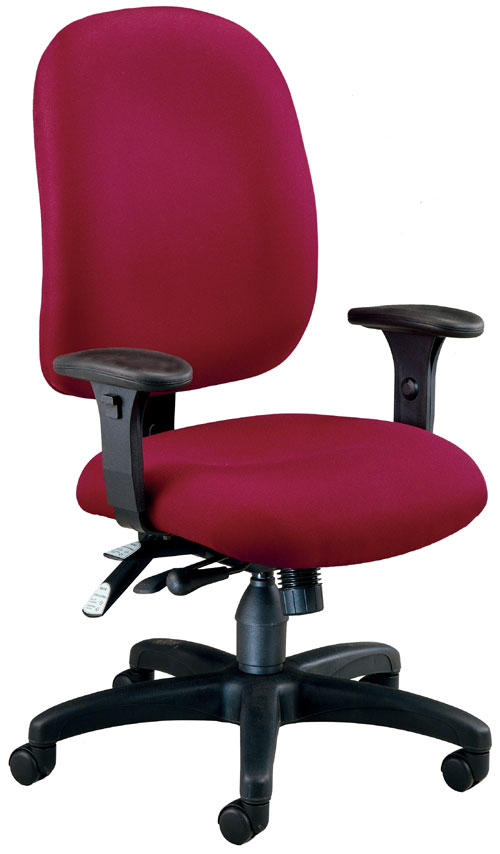 OFM 125-803 Ergonomic Executive-Computer Task Chair - Wine