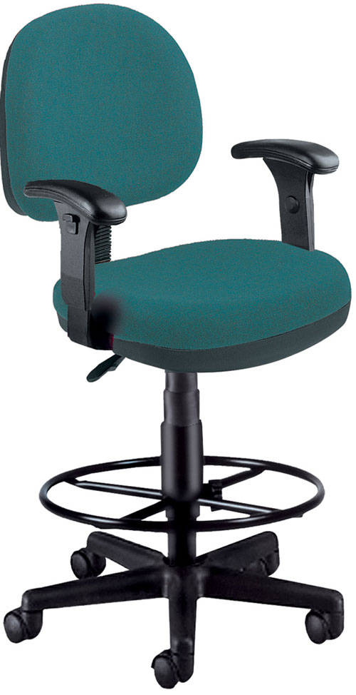 OFM 150-AA-DK-120 Lite Use Computer Task Chair with Arms and Drafting Kit - Teal