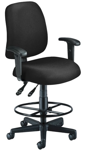 OFM 118-2-AA-DK-805 Posture Task Chair with Arms and Drafting Kit-Black