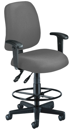 OFM 118-2-AA-DK-801 Posture Task Chair with Arms and Drafting Kit-Gray