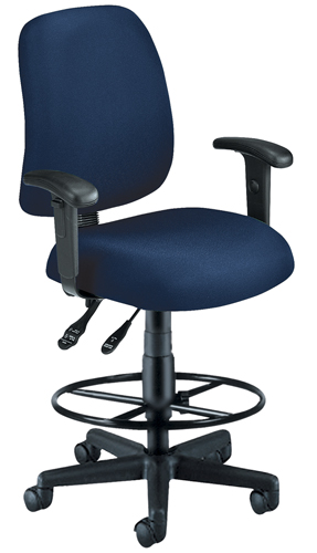 OFM 118-2-AA-DK-804 Posture Task Chair with Arms and Drafting Kit-Navy