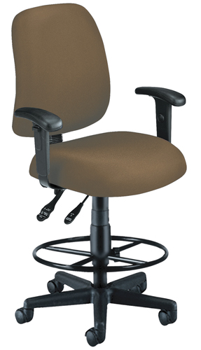 OFM 118-2-AA-DK-806 Posture Task Chair with Arms and Drafting Kit-Taupe