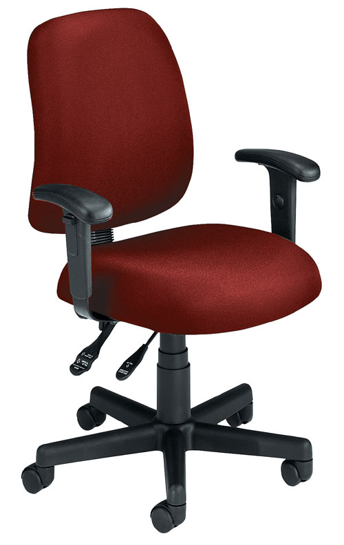 OFM 118-2-AA-803 Posture Task Chair with Arms-Wine