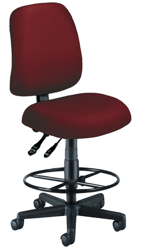 OFM 118-2-DK-803 Posture Task Chair with Drafting Kit-Wine