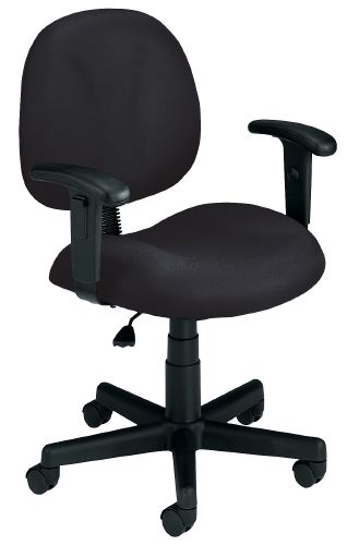 OFM 105-AA-DK-805 Superchair with Arms and Drafting Kit-Black