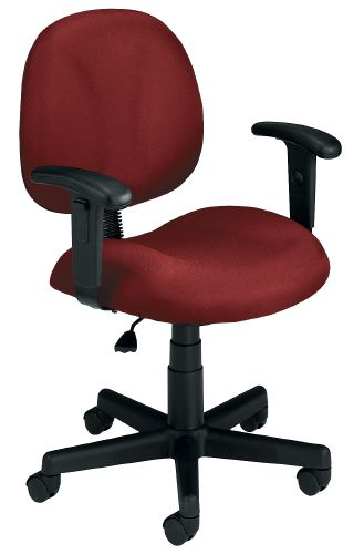 OFM 105-AA-DK-803 Superchair with Arms and Drafting Kit-Wine