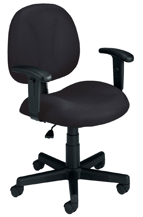 OFM 105-AA-805 Superchair with Arms-Black