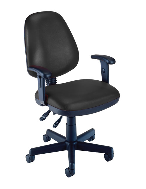 OFM 119-VAM-AA-606 Vinyl Posture Task Chair with Arms-Black