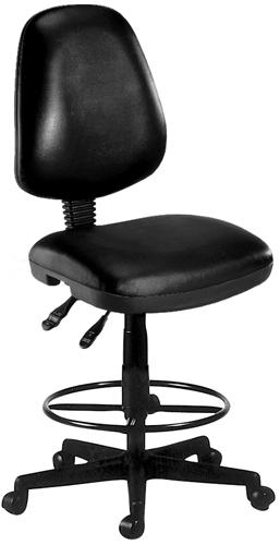 OFM 119-VAM-DK-606 Vinyl Posture Task Chair with Drafting Kit-Black