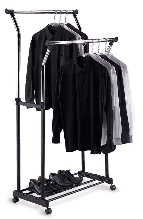 Organize It All 1719 Double Adjustable Garment Rack