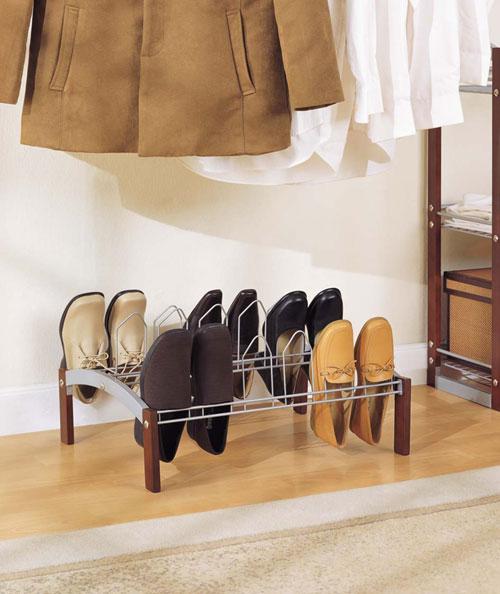 Organize It All 10730 Espresso 9 Pair Shoe Rack