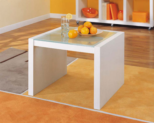 Organize It All 39411 Dawn Coffee Table With Glass Top