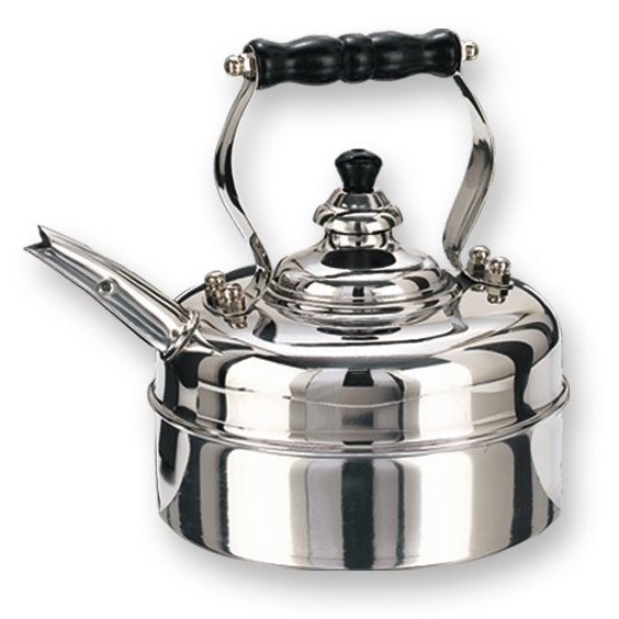 Old Dutch  601 3 Quart Stainless Steel Windsor Whistling Tea Kettle