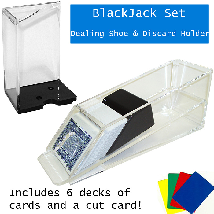 Blackjack Dealing Shoe & Discard Holder - 6 Deck POKER5300