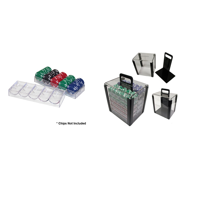 1000 Chip Capacity Clear Carrier - Includes Chip Trays!