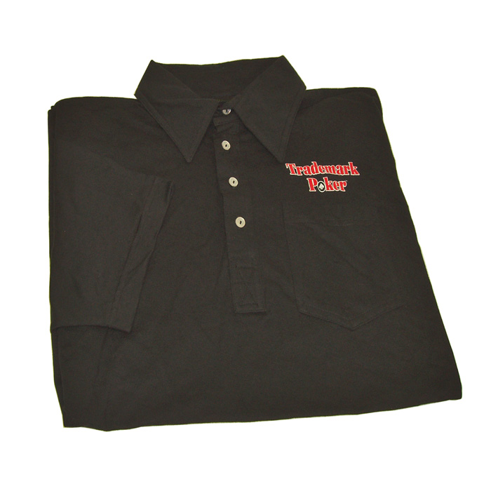 Clothing and Accessories - Poker Black Trademark Poker Polo Shirt