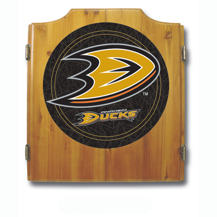 NHL Anaheim Ducks Dart Cabinet includes Darts and Board