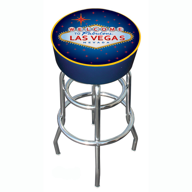 "Poker LV1000 30"" H x 15"" D Las Vegas Padded Bar Stool"