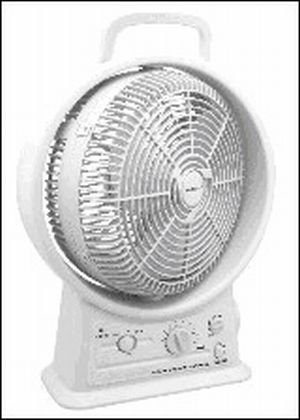 Portable Rechargeable Fan with AM/FM Radio